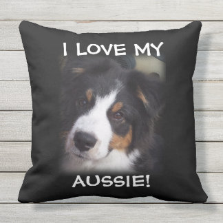 "Australian Shepherd ""HALO"" Outside Pillow"
