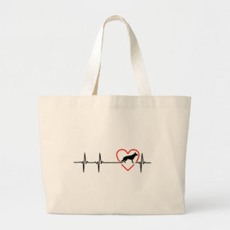 australian shepherd heart eat designs large tote bag