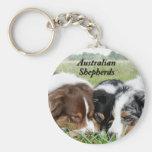 Australian Shepherd Keychain