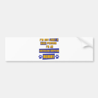Australian Shepherd Mommy Bumper Sticker