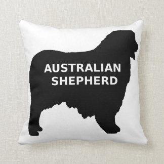 Australian Shepherd name silo Throw Pillow