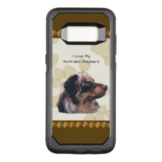 Australian Shepherd on Tan Leaves OtterBox Commuter Samsung Galaxy S8 Case