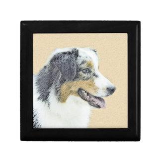 Australian Shepherd Painting - Original Dog Art Gift Box