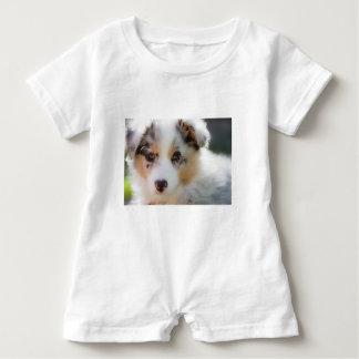 Australian shepherd puppy baby romper