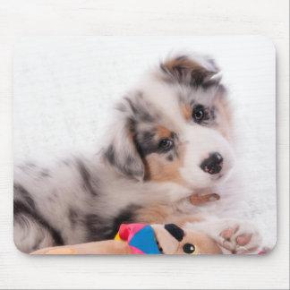 Australian shepherd puppy mouse pad