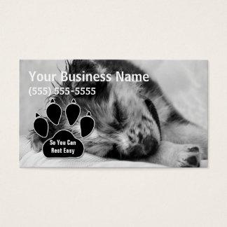 Australian Shepherd Puppy Pet Sitter Business Card