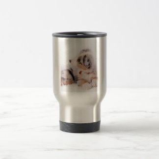 Australian shepherd puppy travel mug