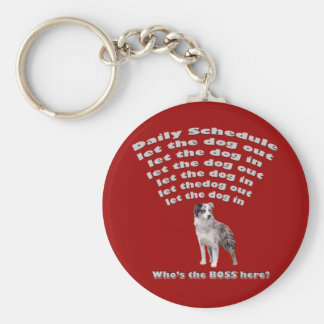 Australian Shepherd Schedule Basic Round Button Keychain