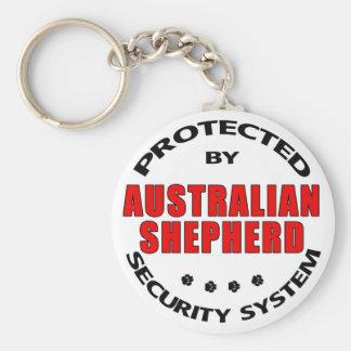 Australian Shepherd Security Basic Round Button Keychain