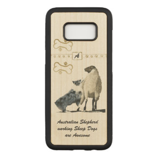Australian Shepherd Sheep Dog Carved Samsung Galaxy S8 Case