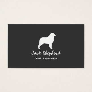 Australian Shepherd Silhouette Business Card