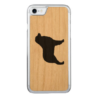 Australian Shepherd Silhouette Carved iPhone 7 Case