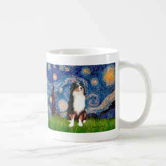Australian Shepherd (Tri2) - Starry Night Coffee Mug