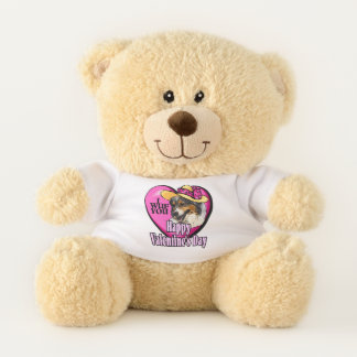 Australian Shepherd Valentines Day Teddy Bear