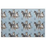Australian Shepherds blue fabric