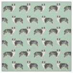 Australian Shepherds fabric cute dog fabric