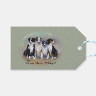 Australian Shepherds Pirate and Daughters! Gift Tags