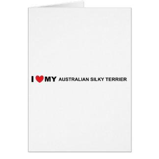 australian silky love card