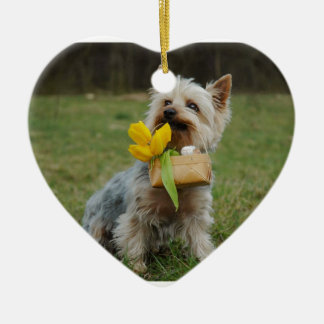 Australian Silky Terrier Dog Ceramic Ornament