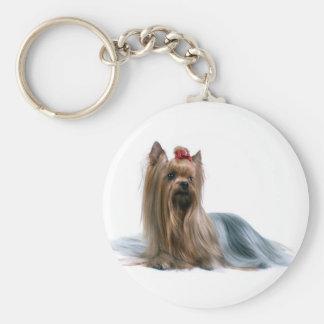 Australian Silky Terrier Dog Show Dog Basic Round Button Keychain