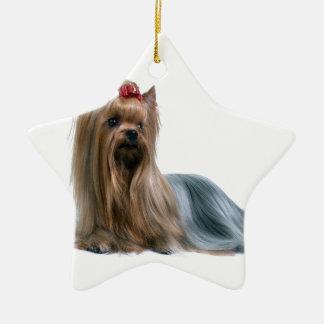 Australian Silky Terrier Dog Show Dog Ceramic Star Ornament