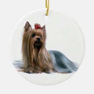 Australian Silky Terrier Dog Show Dog Round Ceramic Ornament