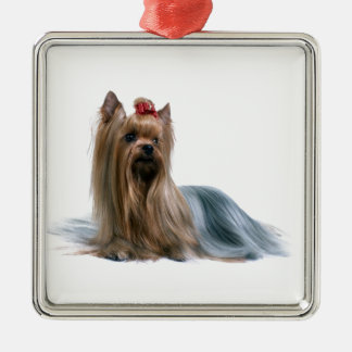 Australian Silky Terrier Dog Show Dog Silver-Colored Square Ornament