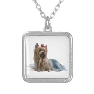 Australian Silky Terrier Dog Show Dog Silver Plated Necklace