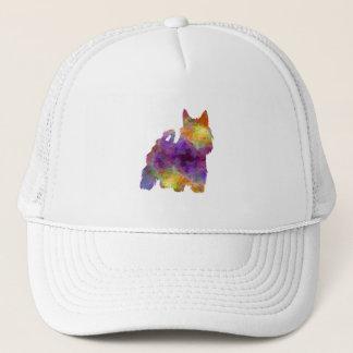 Australian Silky Terrier in watercolor Trucker Hat