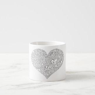 Australian slang heart espresso cup