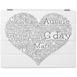 Australian slang heart iPad cover