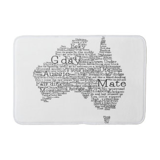 Australian slang map bathroom mat