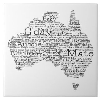 Australian slang map ceramic tiles