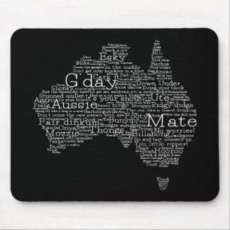 Australian slang map mouse pad