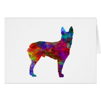 Australian Stumpy Tail Cattle Dog in watercolor.pn Card