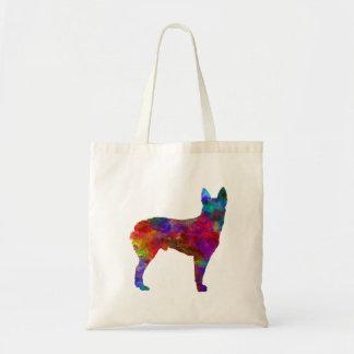 Australian Stumpy Tail Cattle Dog in watercolor.pn Tote Bag