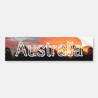 Australian Sunset Bumper Sticker