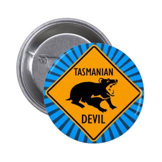 Australian Tasmanian Devil Sign 2 Inch Round Button