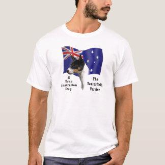 Australian Tenterfield Terrier tricolour with Flag T-Shirt