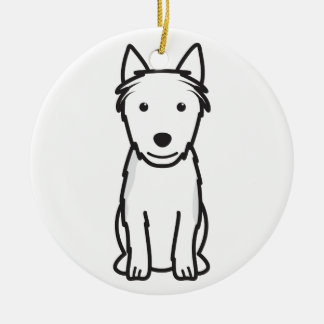 Australian Terrier Dog Cartoon Ceramic Ornament