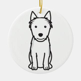 Australian Terrier Dog Cartoon Round Ceramic Ornament