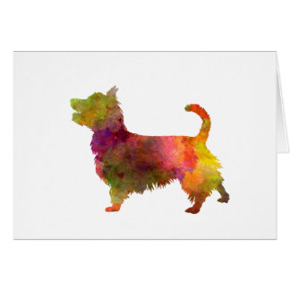 Australian Terrier in watercolor Card