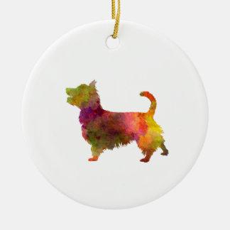 Australian Terrier in watercolor Round Ceramic Ornament