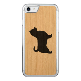 Australian Terrier Silhouette, Long Tail Carved iPhone 8/7 Case