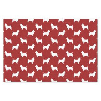 Australian Terrier Silhouettes Pattern Red Tissue Paper