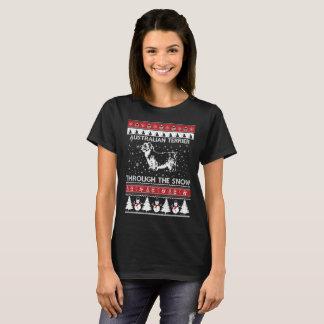 Australian Terrier Through The Snow T-shirt