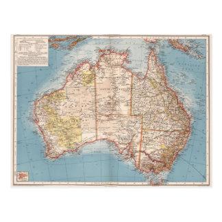 Australian Topography Map (1905) Postcard