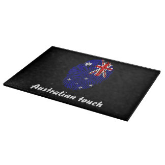 Australian touch fingerprint flag boards