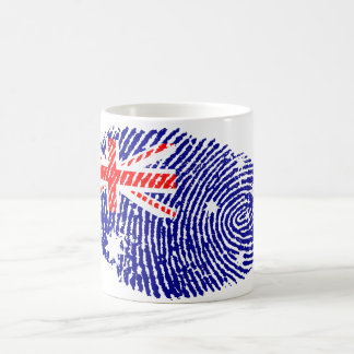 Australian touch fingerprint flag coffee mug