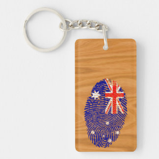 Australian touch fingerprint flag Double-Sided rectangular acrylic keychain